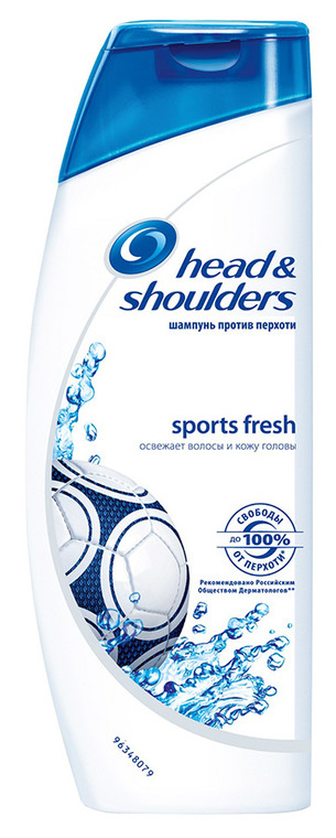 Шампунь HEAD & SHOULDERS sports fresh, 400 мл